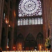 Notre Dame Votive Candles Art Print