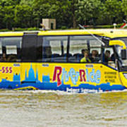 Novel River Boat Art Print