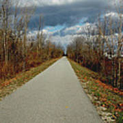 November On Macomb Orchard Trail Art Print