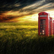 Now Home To The Red Telephone Box Art Print by Lee-Anne Rafferty-Evans