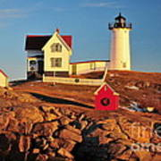 Nubble Light Sunset Art Print by Catherine Reusch Daley