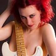 Nude Guitar 36 Art Print