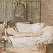 Nude On A Sofa Art Print