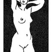 Nude Sketch 19 Art Print by Leonid Petrushin