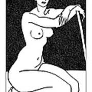 Nude Sketch 29 Art Print by Leonid Petrushin