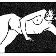 Nude Sketch 72 Art Print