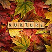 Nurture-autumn Art Print