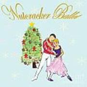 Nutcracker Ballet Romance Art Print by Marie Loh