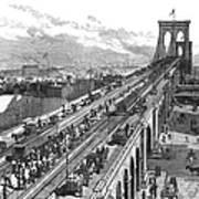 Ny: Brooklyn Bridge, 1883 Art Print