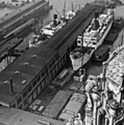 Ny Docks View Art Print