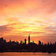 Ny Skyline -daybreak Splendor Art Print