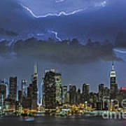 Nyc All Charged Up Art Print