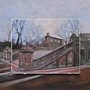 Nyc Bethesda Stairs Layered Art Print