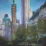 Nyc Central Park 2 Art Print by Ylli Haruni