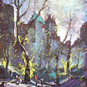 Nyc Central Park Controluce Art Print