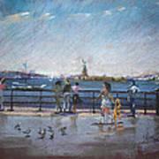 Nyc Grand Ferry Park 2 Art Print