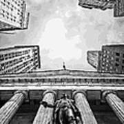 Nyc Looking Up Bw16 Art Print by Scott Kelley