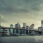 Nyc Skyline In The Sunset V2 Art Print
