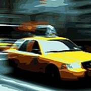 Nyc Taxi Color 16 Art Print