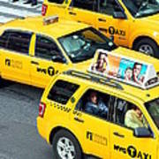 Nyc Yellow Cabs Art Print