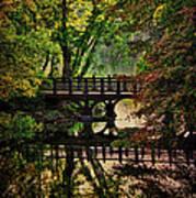 Oak Bridge In Fall Art Print