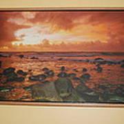 Oak Floater Frame Art Print