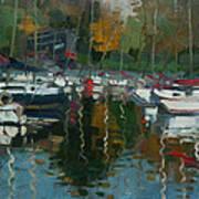Oakville Harbour On Art Print