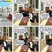 Obama N Freud I Art Print