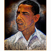 Obama. The 44th President. Art Print by Fred Makubuya