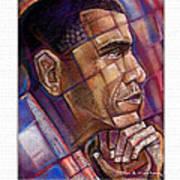 Obama. The Thinker Print by Fred Makubuya