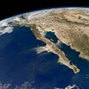 Oblique View Of Baja California Art Print