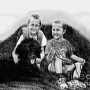 Obrien Brothers And Their Dog Art Print
