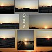 Obx North Carolina Sunsets Art Print