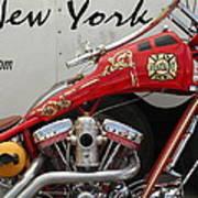 Occ Fdny Motorcycle Art Print