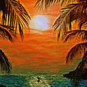 Ocean Kayaker Art Print