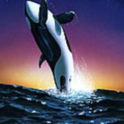 Ocean Leap Art Print