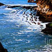 Ocean Lines Art Print
