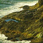 Ocean Pounded Rock  Art Print