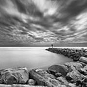 Oceanside Harbor Jetty 2 Art Print by Larry Marshall