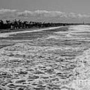 Oceanside In Black And White Art Print