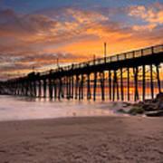 Oceanside Sunset 7 Art Print