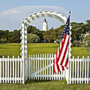 Ocracoke Lighthouse July 4th Art Print by Bill Swindaman