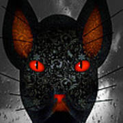 October Cat  Art Print