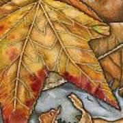 October Art Print by Nora Blansett