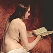 Odalisque With Book Art Print by Pg Reproductions