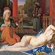 Odalisque With Slave Art Print by Jean-August-Dominique Ingres