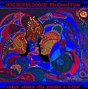 Ode To The Dogon The Eternal Flame Art Print