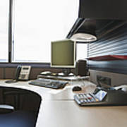 Office Work Station Print by Jetta Productions, Inc