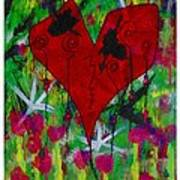 Oh My Green Heart Art Print