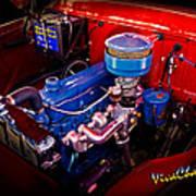 Oh So Simple Sanitary Truck Engine Art Print